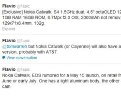 Итальянский блогер рассказал о технических характеристиках и дате выхода Nokia Catwalk (Cayenne)