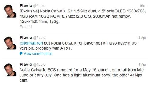 Nokia Catwalk - технические характеристики
