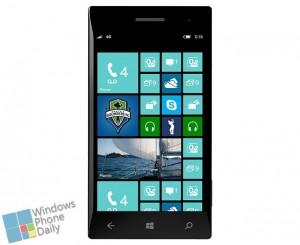 Стартовая страница Windows Phone 8 с дополнительным столбиком плиток