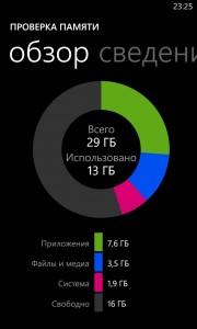Функция проверки памяти на Nokia Lumia 920