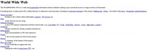 Самый первый Интернет-сайт в мире