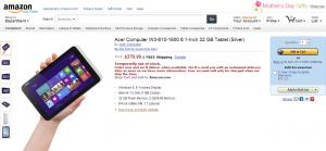 Acer W3 в Amazon