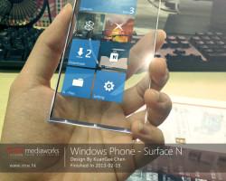 Windows Phone Surface N— концепт прозрачного смартфона