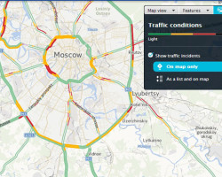 Карты Nokia HERE теперь показывают пробки в 31 российском городе