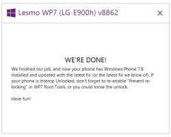 Sharp7Eighter — утилита для обновления Windows Phone 7 до 7.8