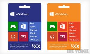 Подарочные карты для Windows Phone появятся до конца года