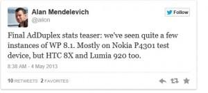 Windows Phone 8.1 засветилась в AdDuplex