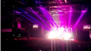 Концерт группы Offspring в Москве. Кадр из видео, снятого на Nokia Lumia 920