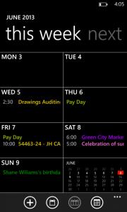 Обновленный Календарь для Windows Phone