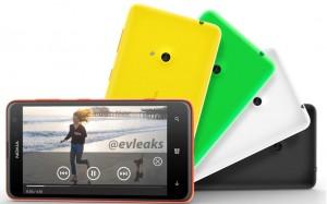 Nokia Lumia 625: технические характеристики и рендер
