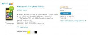 Nokia Lumia 1020 у ATT