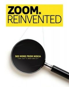 Zoom. Reinvented - приглашение на презентацию Nokia