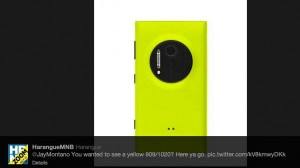 Nokia Lumia 1020 в жёлтом корпусе
