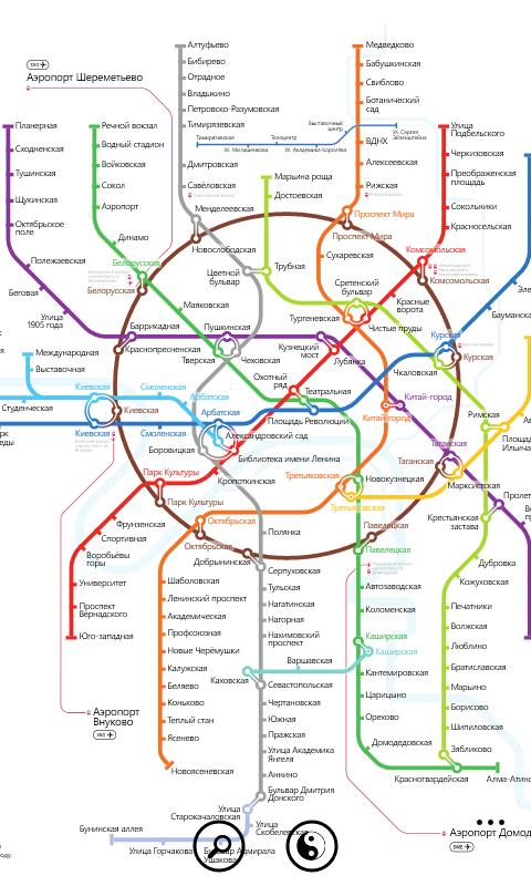 схема метрополитена.