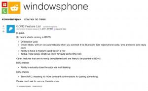Windows Phone 8 GDR3: подробности и дата выхода