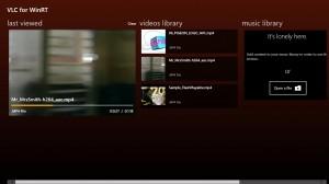 Стартовый Экран VLC для Windows RT и Windows 8