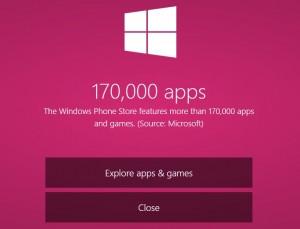 В Магазине Windows Phone - 170 000 приложений!