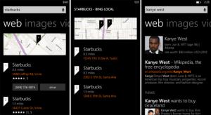 Новый интерфейс Bing для Windows Phone 8
