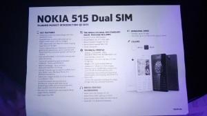 Характеристики Nokia 515