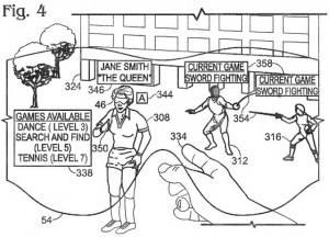 Игровые очки Microsoft, иллюстрация из патента