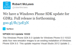 Windows Phone 8 GDR2 SDK