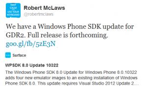 Windows Phone 8 GDR2 SDK