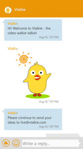 Vtalkie для Windows Phone
