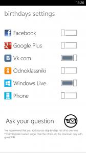 """Планировщик и """"напоминалка"""" о днях рождения BirthToDo для Windows Phone"""