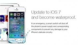 Поддельная реклама iOS 7