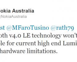 Nokia Australia: топовые Lumia не получат Bluetooth 4.0 LE