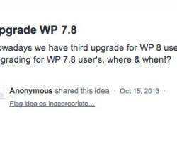 Uservoice: как насчет апгрейда для Windows Phone 7.8?