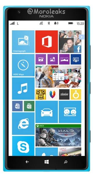Nokia Lumia 1520 cyan