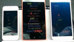 Сравнение яркости экранов