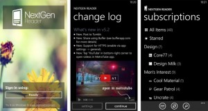 Nextgen Reader для Windows Phone 8