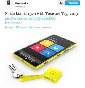 Брелок Treasure Tag в желтом цвете
