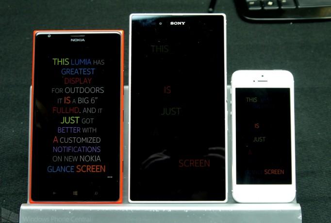 Nokia Lumia 1520, Sony Xperia Z, iPhone