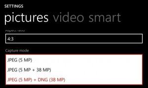 DNG на Nokia Lumia 1020