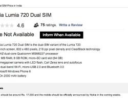 Интернет-магазин рассказал о Nokia Lumia 720 Dual SIM