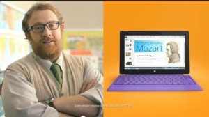 Кадр из рекламы Microsoft Surface 2