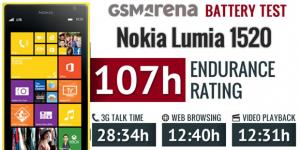 Nokia Lumia 1520 - тест батареи