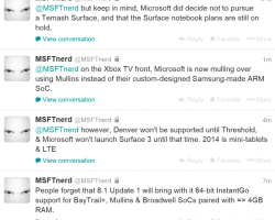 @MSFTnerd о планах Microsoft: Surface 3, Surface Mini и Surface-ноутбук