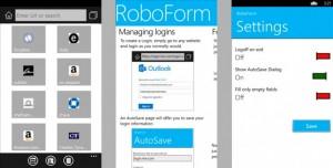 Roboform для Windows Phone