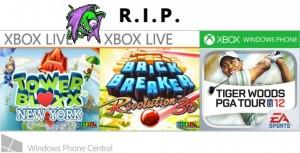 Удалённые игры Xbox-игры Digital Chocolate и Electronic Arts