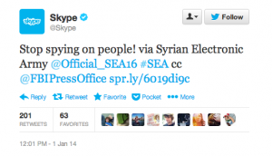 Твиттер-аккаунт Skype