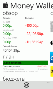W7Phone.ru: Money Wallet - приложение для учета личных финансов