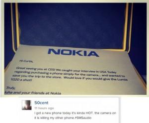 Nokia Lumia 1020 в инстаграме 50 Cent