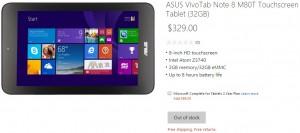 Цена Asus VivoTab Note 8