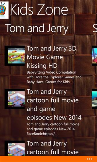 Скриншот программы Kids Zone