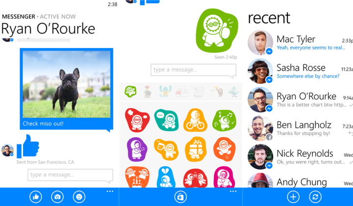 Facebook Messenger для Windows Phone