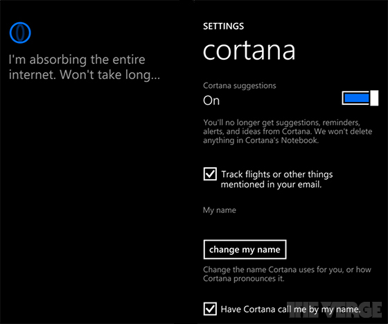 Настройки Cortana в Windows Phone 8.1
